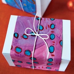 Childs art gift wrap