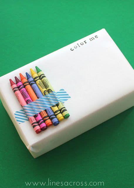 Crayon gift wrap
