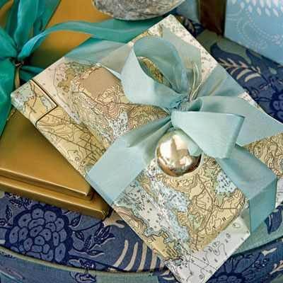Maps as gift wrap