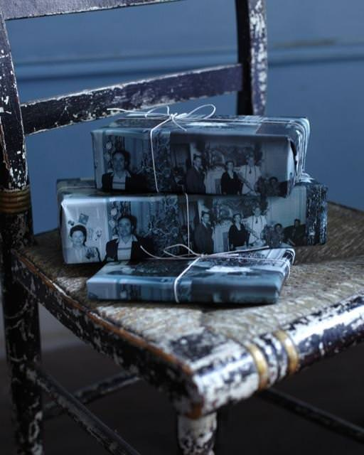 Family photos gift wrap