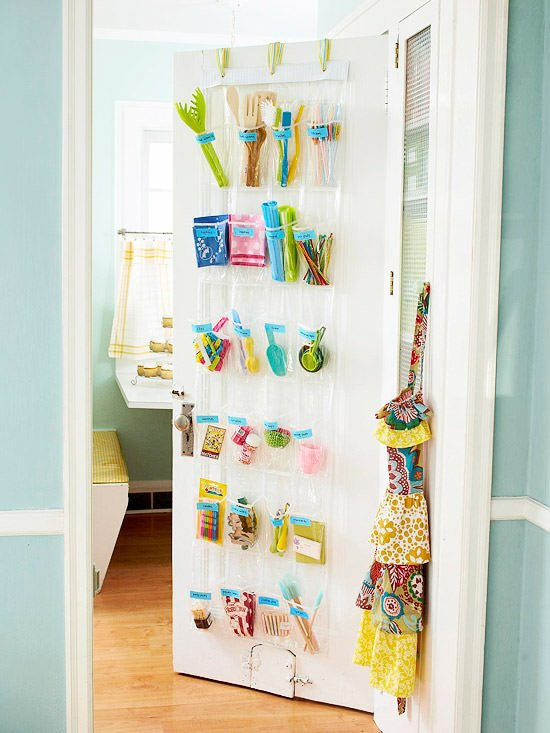 Over door kids storage