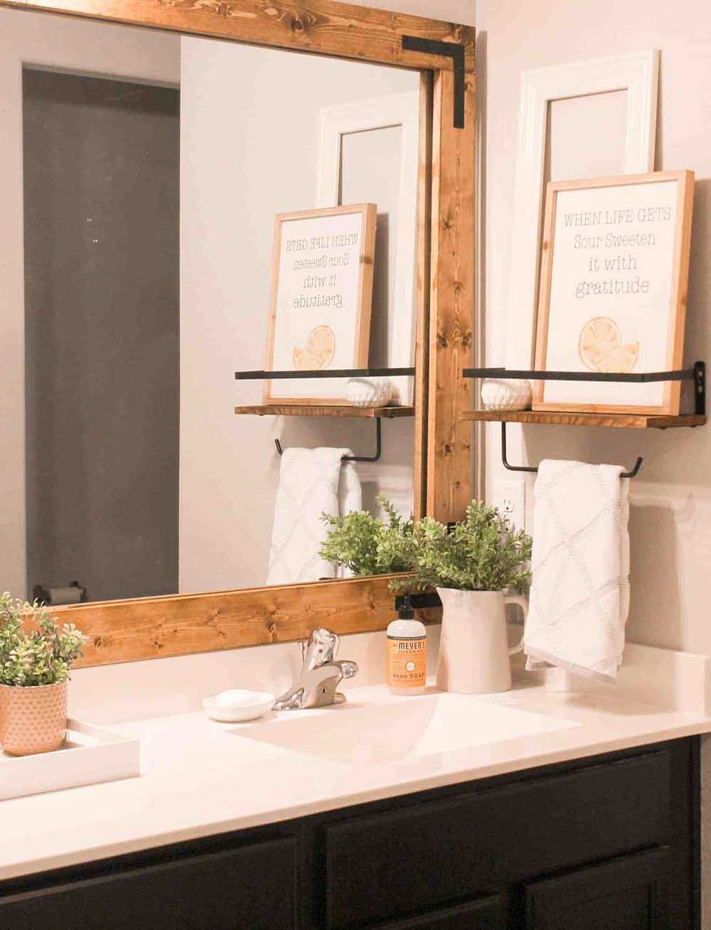 Pretty Fresh Bathroom Ideas Updates The Budget Decorator