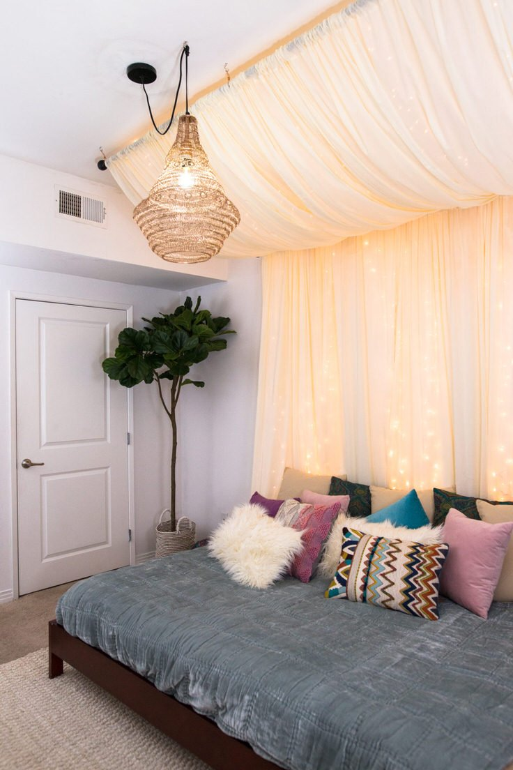 Romantic DIY Bed Canopies (on a Budget!) • The Budget ...