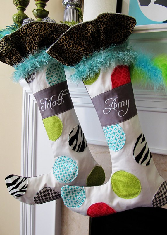 Amy At Positively Splendid Based Her DIY Whimsical Stocking Pattern Tutorial On A Set By Ballard Designs Love The Details In These Fun Holiday Stockings