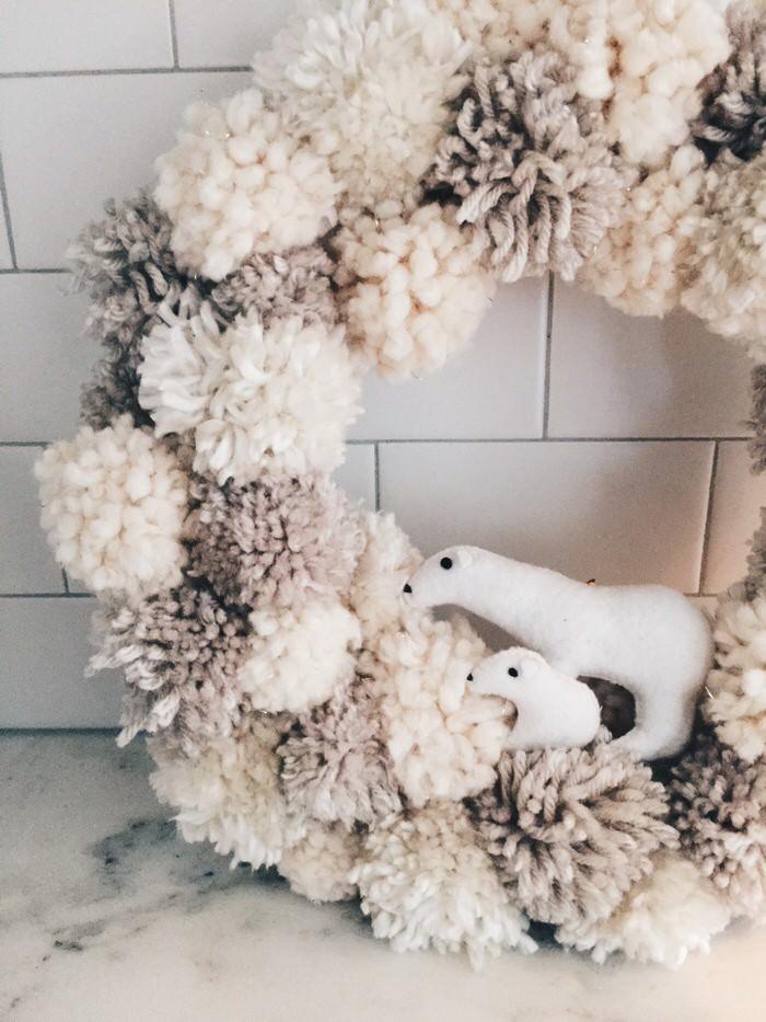 Holiday Wreaths - DIY Christmas Wreaths You Can Make- Pom Pom Wreath