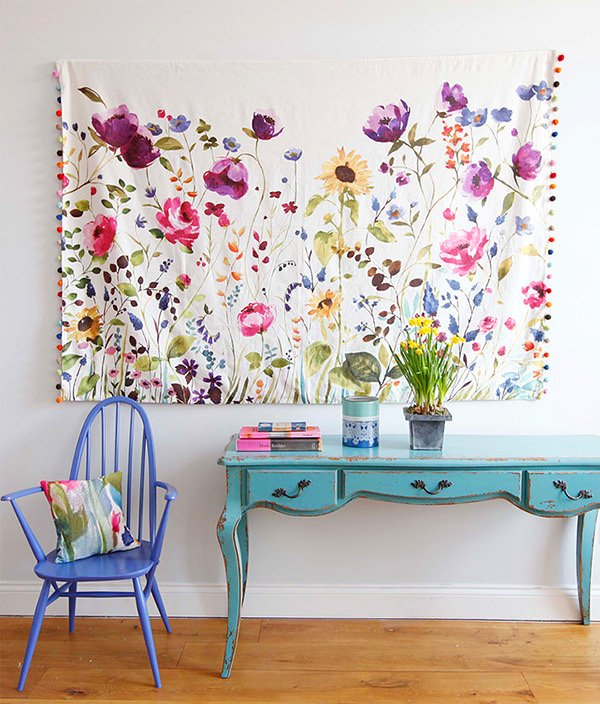 Decorating With Fabric The Budget Decorator. Home Decorating News:  Decorating With Fabric Panels