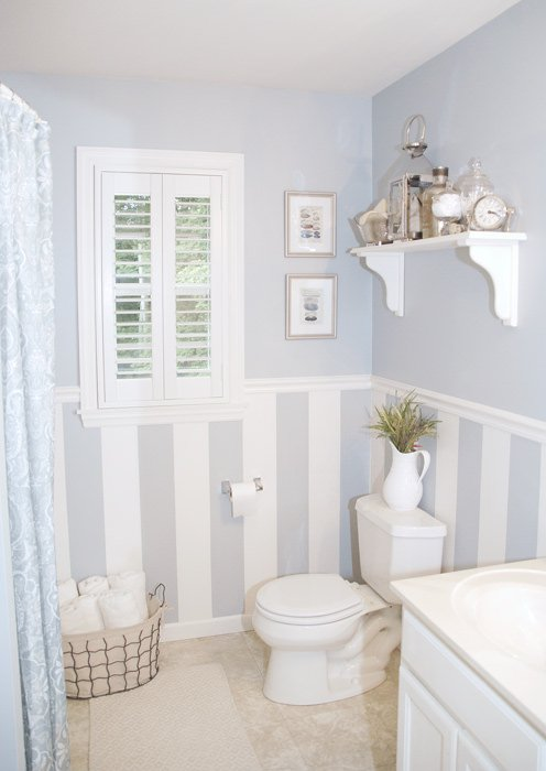 Bathroom d cor quick bathroom decorating on a budget for Master bathroom on a budget