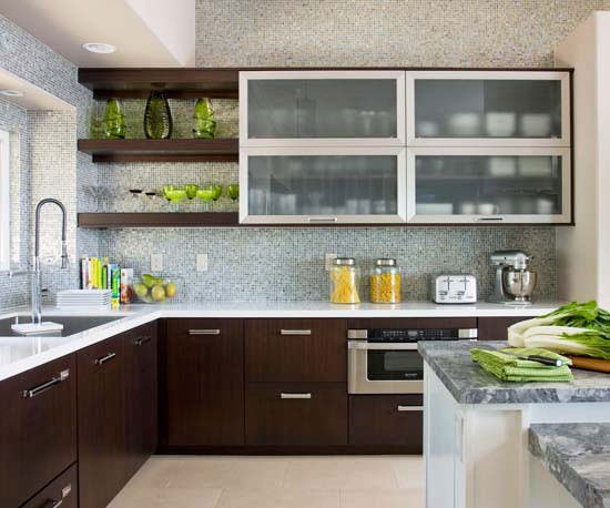 Step by step decorating a contemporary style kitchen for Modern kitchen cupboards