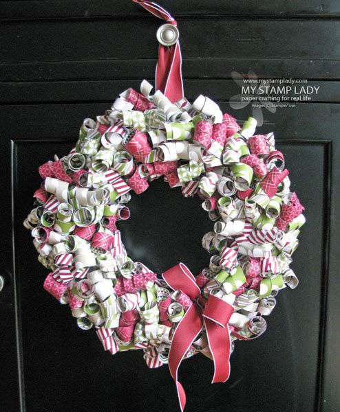 Curled paper wreath