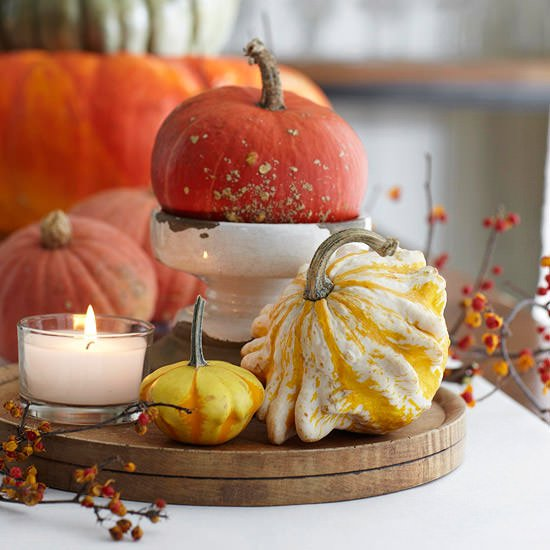 Fall gourd decorating