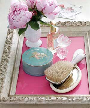 Picture frame bath tray