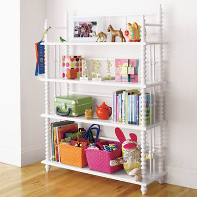 Kids bookcase storage