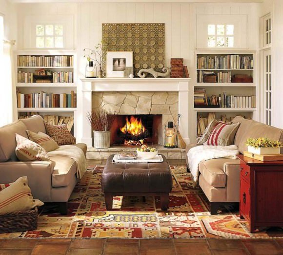 Cozy winter decorating ideas the budget decorator for Winter living room decorating ideas