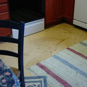 Paper bag floor treatment