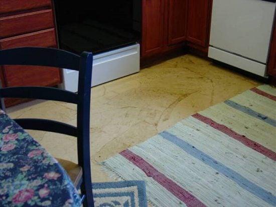 Paper bag floor treatment