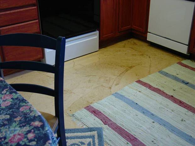 Tbd 39 s diy paper bag floor the budget decorator for Diy flooring ideas on a budget