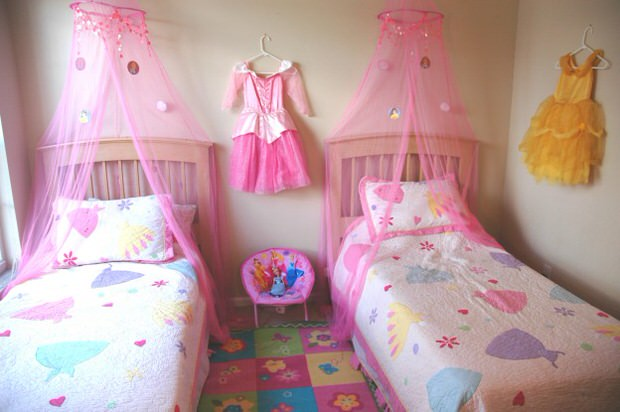Toddler Bed For Girl Princess: Princess Theme Bedroom • The Budget Decorator