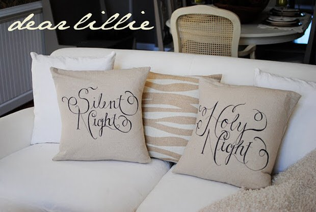 Sharpie pillows