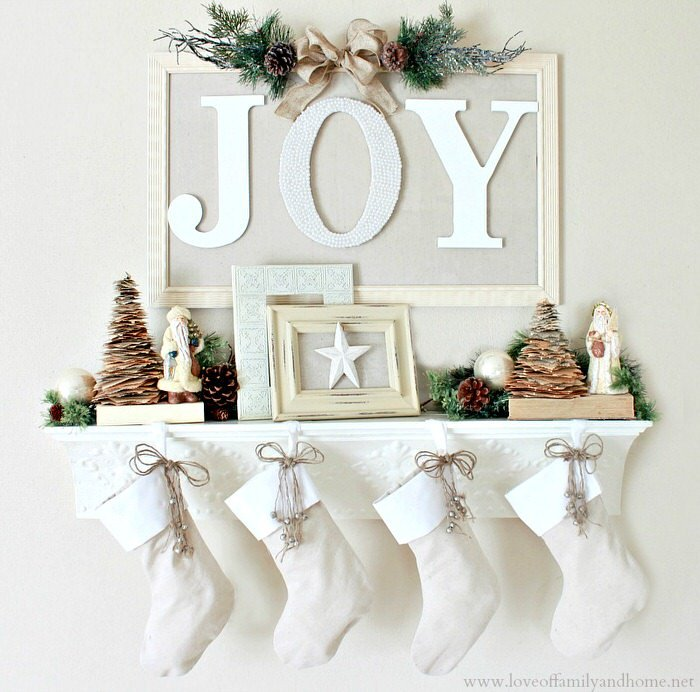Home Made Modern Pinterest Easy Christmas Decorating Ideas: DIY- Christmas Mantel Decorating Ideas • The Budget Decorator