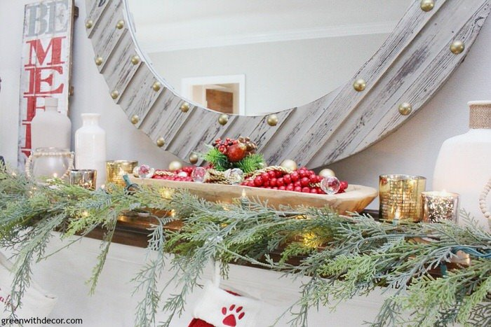 inspiring christmas mantel ideas - Cheap Diy Christmas Decorations