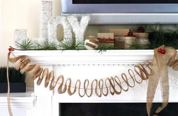 Diy Christmas Mantel Decorating Ideas The Budget Decorator