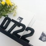 DIY Industrial Metal Style Numbers