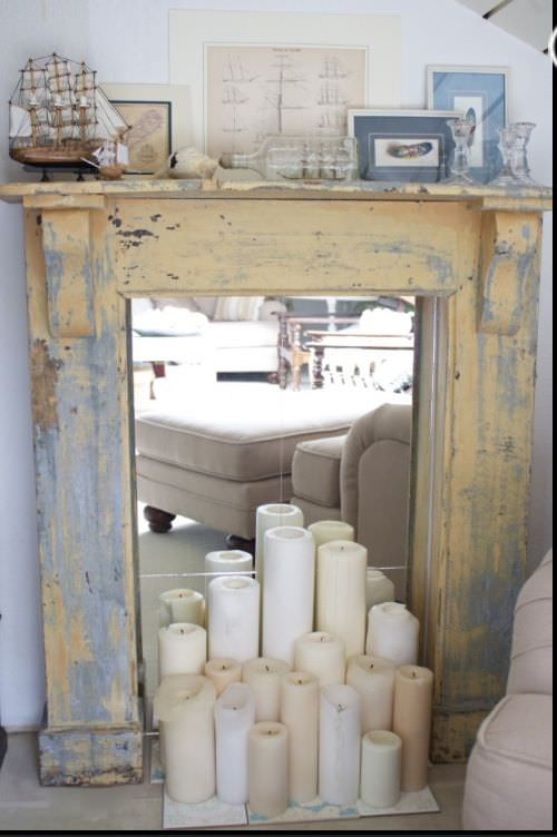 Diy Faux Fireplace Ideas Projects The Budget Decorator