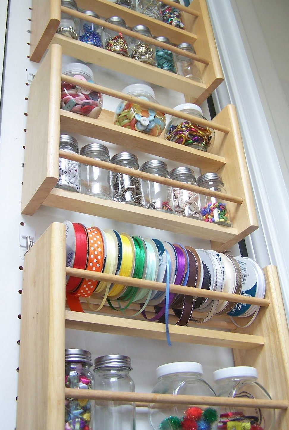 Diy craft room ideas projects the budget decorator for Craft supplies organization ideas