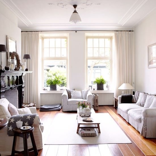 New England Style Living Room Country Homes And  Photo Gallery