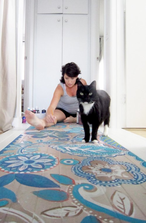 Painted Floor Designs diy painted floor projects • the budget decorator