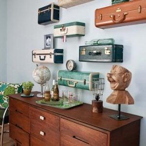 DIY vintage suitcases
