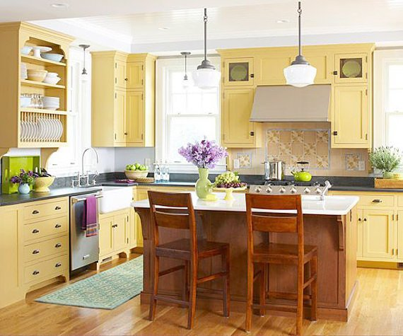 Country Cabinets For Kitchen: Today's Country Kitchen Decorating • The Budget Decorator