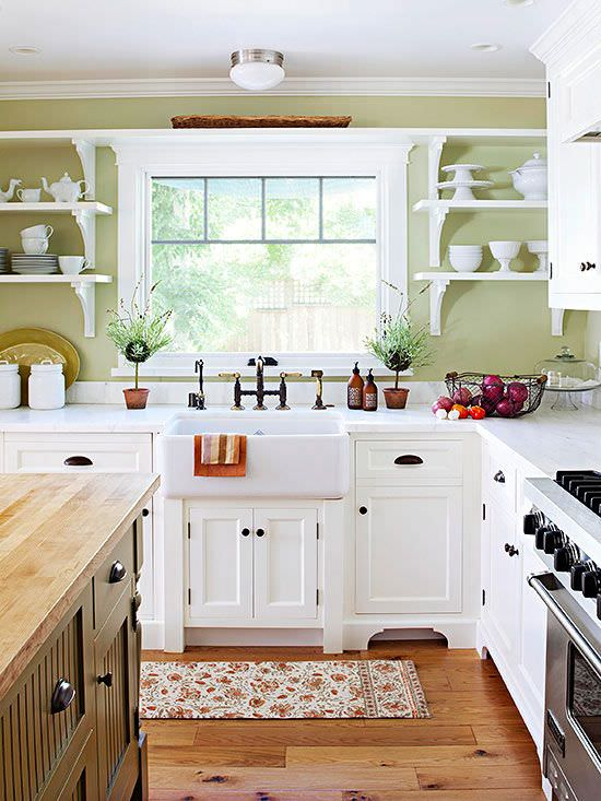 Today 39 s country kitchen decorating the budget decorator for Kitchen country design ideas