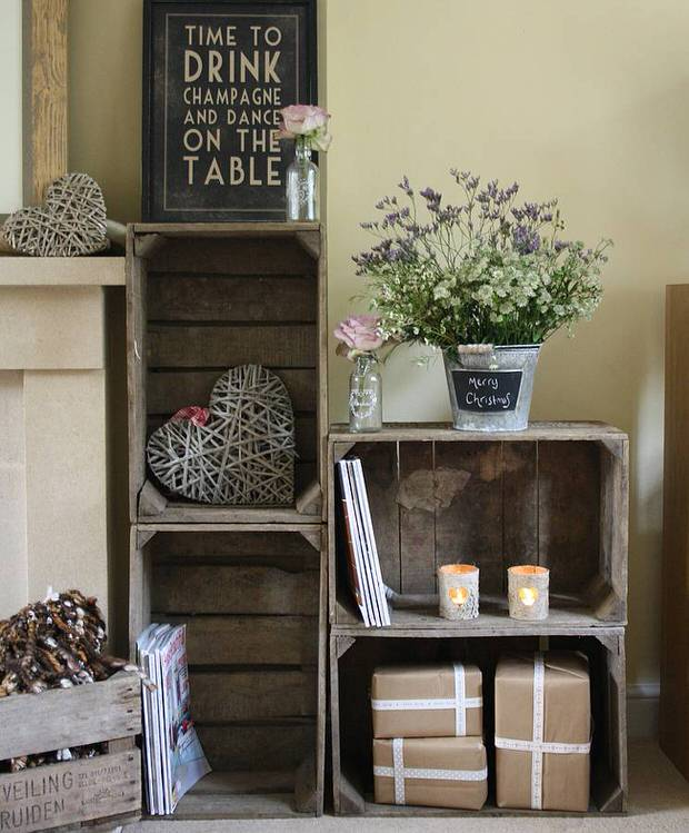 repurposing wood crates