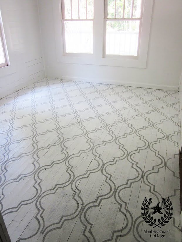 Diy painted floor projects the budget decorator for Cottage flooring ideas