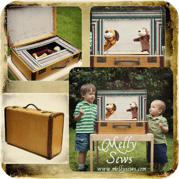 Suitcase puppet theater