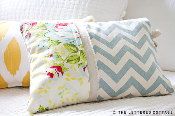 Making Decorative Pillows Ideas : DIY Throw Pillow Projects The Budget Decorator