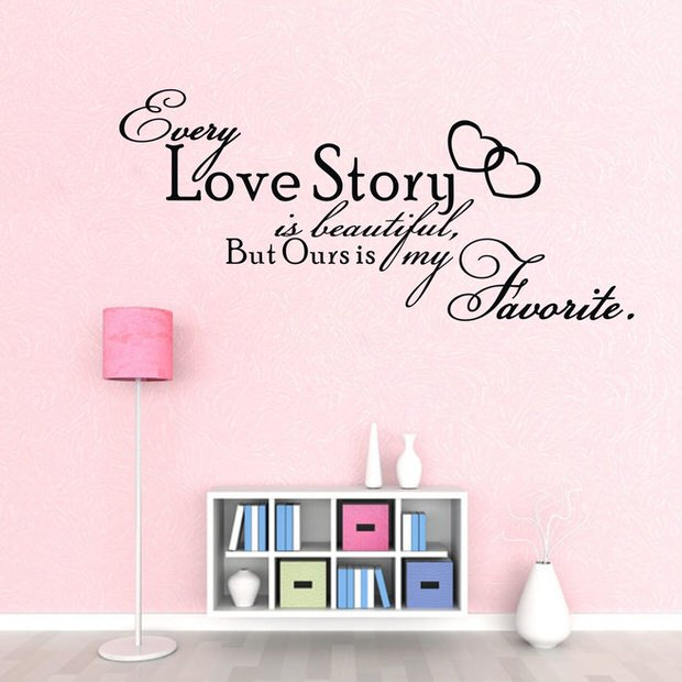 Amazon-hot-WALL-ART-Every-Love-Story-is-font-b-Beautiful-b-font-font-b-QUOTE