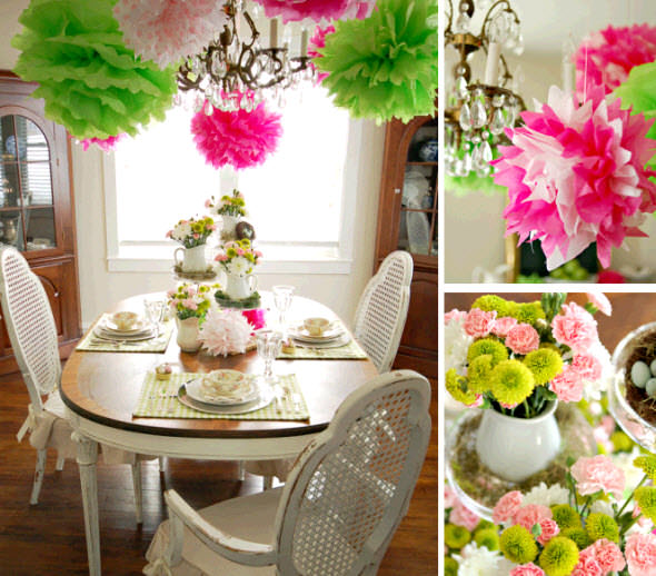 Colorful-Spring-Table-Tissue-Pom-Poms-Flowers-