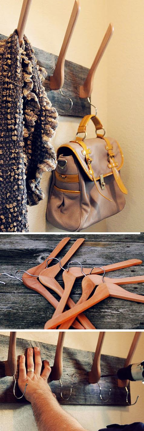 Diy repurpose ideas on pinterest repurposed for Creative ideas for coat racks
