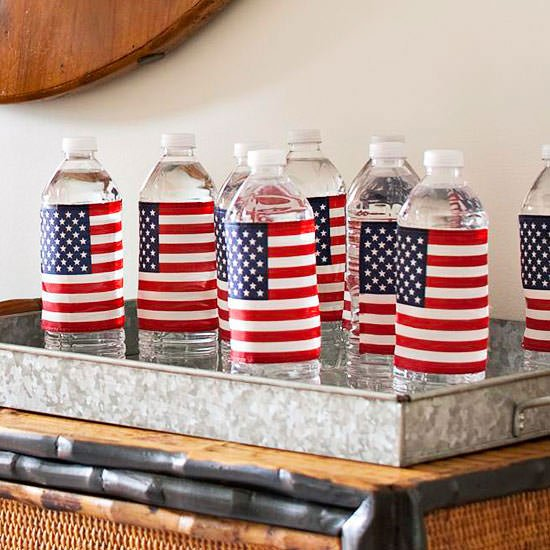 Quick and easy fourth of july decorating the budget for American flag decoration