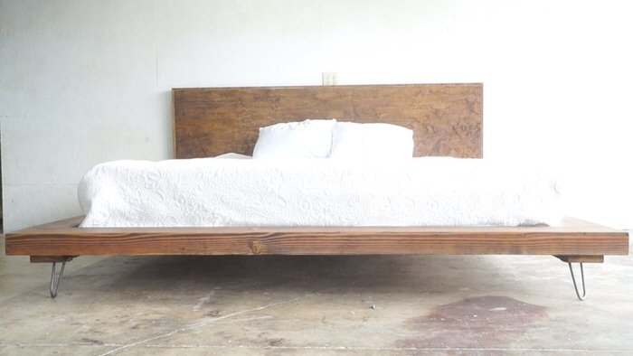 nat andrews posted this diy bed frame to instructables and it is incredibly awesome high quality wood beds are hard enough to find and afford as it is - Wood Frame Bed