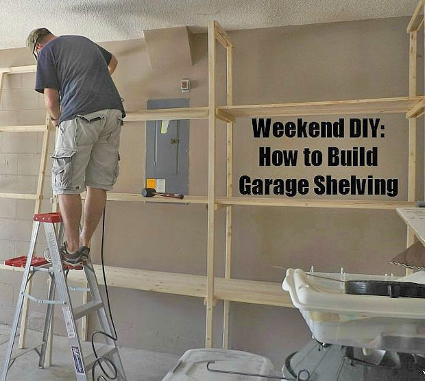 garage storage on a budget the budget decorator. Black Bedroom Furniture Sets. Home Design Ideas