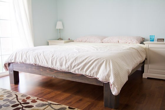 easy king platform bed plans