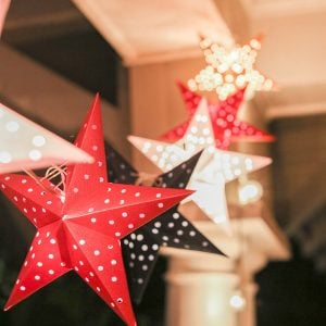 DIY Paper Star String Lights