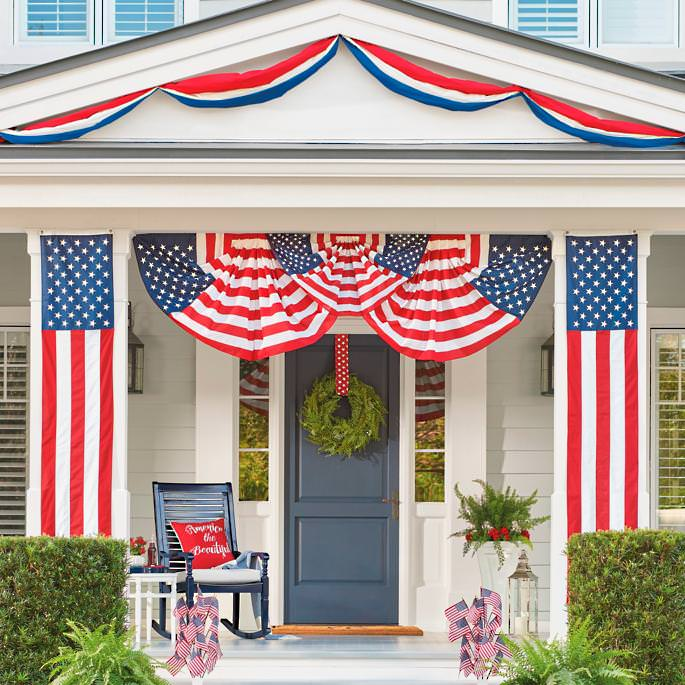 Front Porch Outdoor 4th Of July Decorating Ideas The Budget Decorator
