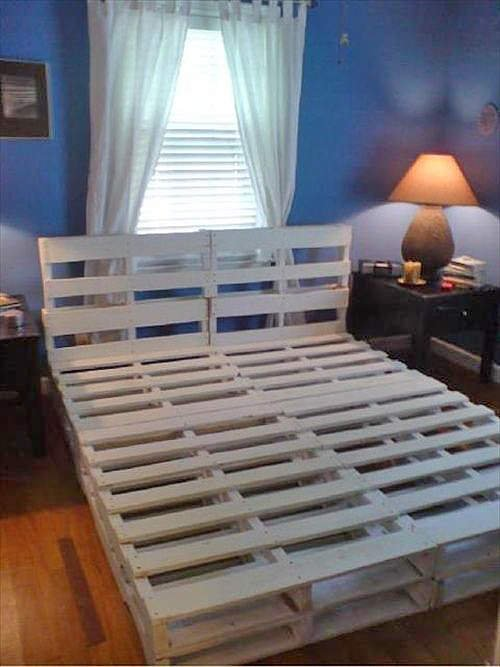 pallet bed 2 2d30ad8132d19a860eebfabafc304adb 7ee43c87581e1bf8bc18cd82fda466be - Diy King Size Bed Frame
