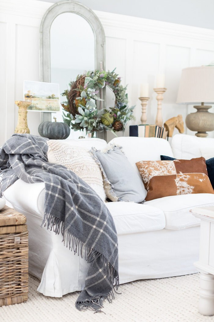 Check Out How Lucy At Craftberry Bush Layered This Room With Fall Home Decorating Style