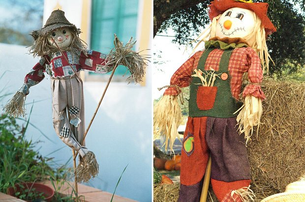 Diy decor how to make a scarecrow the budget decorator for How to make home decorations