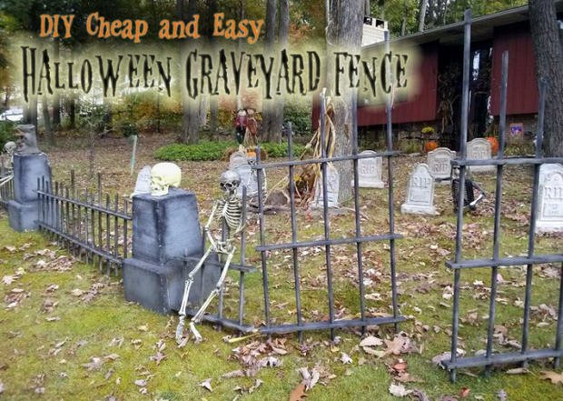How To Make A Halloween Graveyard The Budget Decorator